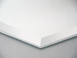国産 スーパークリアーミラー (高透過 超透明鏡)(防湿 防錆加工)(5ミリ厚)(八角形)(15ミリ面取り加工) 鏡 ミラー 板鏡 カット サイズカット 特注:1219mmx457mm(鏡板 ガラス鏡 鏡ガラス 洗面所 トイレ 洗面 洗面鏡 トイレ鏡 防錆 防湿 浴室)