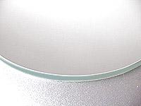 国産 スーパークリアーミラー (高透過 超透明鏡)(防湿 防錆加工)(5ミリ厚)(円形)(糸面取り加工) 鏡 ミラー 板鏡 カット サイズカット 特注:610mmx305mm(鏡板 ガラス鏡 鏡ガラス洗面所 トイレ 洗面 洗面鏡 トイレ鏡 防錆 防湿 浴室)