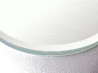 鏡・板鏡(天丸形)(スーパークリアーミラー)(約15ミリ幅面取り加工(クリスタルカット))(板厚5ミリ)