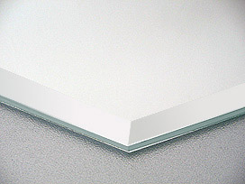 国産 スーパークリアーミラー(高透過 超透明鏡)(5ミリ厚)(八角形)(15ミリ面取り加工) 鏡 ミラー 板鏡 カット サイズカット 特注:1524mmx457mm(鏡板 ガラス鏡 鏡ガラス洗面所 トイレ 洗面 玄関 洗面鏡 トイレ鏡)