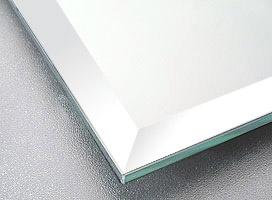 鏡・板鏡(長方形・正方形)(スーパークリアーミラー)(約15ミリ幅面取り加工(クリスタルカット))(板厚5ミリ)1524mmx610mm
