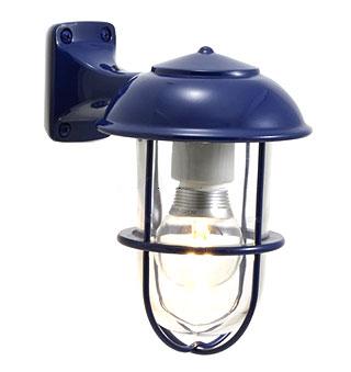 洗面 照明 LED 485lm (60W相当) 透明ガラス 洗面所 照明器具 洗面台 洗面鏡 トイレ照明 マリンライト マリンランプ 船舶 照明 北欧 アンティーク 真鍮 ブルー