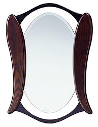 ブラウン 茶色 ダークブラウン の 鏡 ミラー 壁掛け鏡 壁掛けミラー ウオールミラー:w550h740-7kg(フレームミラー 壁掛け 壁付け 姿見 姿見鏡 壁 おしゃれ エレガント 化粧鏡 アンティーク 玄関 玄関鏡 洗面所 トイレ 寝室 )