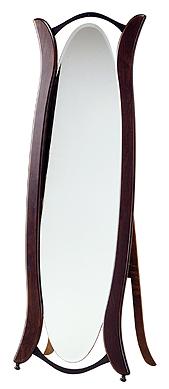 森の家具シリーズ 自立式 姿見 鏡 ミラー(スタンド付き):w565h1600-14kg