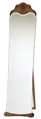 森の家具シリーズ 自立式 姿見 鏡 ミラー(スタンド付き):w455h1630-14k