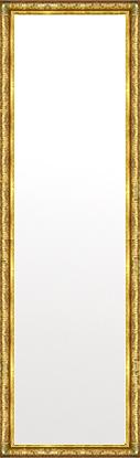 鏡 ミラー 壁掛け鏡 壁掛けミラー ウオールミラー:ボーン ナポリ ゴールド 372mmx1272mm(フレームミラー 壁掛け 壁付け 姿見 姿見鏡 壁 おしゃれ エレガント 化粧鏡 アンティーク 玄関 玄関鏡 洗面所 トイレ 寝室 額 フレーム 額縁 )