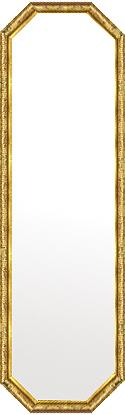 鏡 ミラー 壁掛け鏡 壁掛けミラー ウオールミラー:ボーン ナポリ ゴールド 八角形鏡372mmx1272mm(フレームミラー 壁掛け 壁付け 姿見 姿見鏡 壁 おしゃれ エレガント 化粧鏡 アンティーク 玄関 玄関鏡 洗面所 トイレ 寝室 額 フレーム 額縁 )