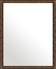 ブラウン 茶色 ダークブラウン の 鏡 ミラー 壁掛け鏡 壁掛けミラー ウオールミラー:ボーン ナポリ カッパー 372mmx472mm(フレームミラー 壁掛け 壁付け 姿見 姿見鏡 壁 おしゃれ エレガント 化粧鏡 アンティーク 玄関 玄関鏡 洗面所 トイレ 寝室 )