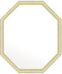 八角 八角形 オクタゴン の 鏡 ミラー 壁掛け鏡 壁掛けミラー ウオールミラー 風水鏡 風水ミラー :フェミニン アイボリー 八角形鏡456mmx556mm(フレームミラー 壁掛け 壁付け 姿見 姿見鏡 壁 おしゃれ エレガント 化粧鏡 アンティーク 玄関 玄関鏡 洗面所 トイレ 寝室 )
