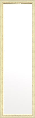鏡 ミラー 壁掛け鏡 壁掛けミラー ウオールミラー:フェミニン アイボリー 356mmx1256mm(フレームミラー 壁掛け 壁付け 姿見 姿見鏡 壁 おしゃれ エレガント 化粧鏡 アンティーク 玄関 玄関鏡 洗面所 トイレ 寝室 額 フレーム 額縁 )