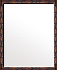 ブラウン 茶色 ダークブラウン の 鏡 ミラー 壁掛け鏡 壁掛けミラー ウオールミラー:竹林の里 ブラウン 350mmx450mm(フレームミラー 壁掛け 壁付け 姿見 姿見鏡 壁 おしゃれ エレガント 化粧鏡 アンティーク 玄関 玄関鏡 洗面所 トイレ 寝室 )