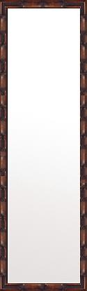 鏡 ミラー 壁掛け鏡 壁掛けミラー ウオールミラー:竹林の里 ブラウン 350mmx1250mm(フレームミラー 壁掛け 壁付け 姿見 姿見鏡 壁 おしゃれ エレガント 化粧鏡 アンティーク 玄関 玄関鏡 洗面所 トイレ 寝室 額 フレーム 額縁 )