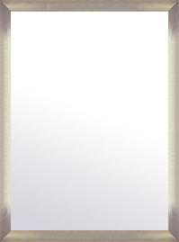 特大 大型 ラージサイズ の 鏡 ミラー 壁掛け鏡 壁掛けミラー ウオールミラー:マルタ シルバー&オレンジ 718mmx968mm(フレームミラー 壁掛け 壁付け 姿見 姿見鏡 壁 おしゃれ エレガント 化粧鏡 アンティーク 玄関 玄関鏡 洗面所 トイレ 寝室 )