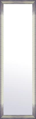 鏡 ミラー 壁掛け鏡 壁掛けミラー ウオールミラー:マルタ シルバー&ブラック 368mmx1268mm(フレームミラー 壁掛け 壁付け 姿見 姿見鏡 壁 おしゃれ エレガント 化粧鏡 アンティーク 玄関 玄関鏡 洗面所 トイレ 寝室 額 フレーム 額縁 )