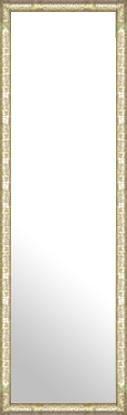 鏡 ミラー 壁掛け鏡 壁掛けミラー ウオールミラー:ボーン ナポリ シルバー 372mmx1272mm(フレームミラー 壁掛け 壁付け 姿見 姿見鏡 壁 おしゃれ エレガント 化粧鏡 アンティーク 玄関 玄関鏡 洗面所 トイレ 寝室 額 フレーム 額縁 )