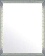 シルバー 銀 銀箔 仕立ての 鏡 ミラー 壁掛け鏡 壁掛けミラー ウオールミラー:マルタ シルバー&ブルー 368mmx468mm(フレームミラー 壁掛け 壁付け 姿見 姿見鏡 壁 おしゃれ エレガント 化粧鏡 アンティーク 玄関 玄関鏡 洗面所 トイレ 寝室 )