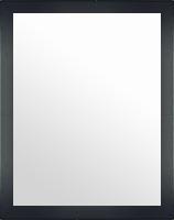 鏡 ミラー 壁掛け鏡 ウォールミラー:メープル ブラック 466mmx566mm