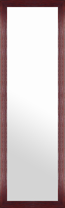 鏡 ミラー 壁掛け鏡 壁掛けミラー ウオールミラー:メープル マホガニー 366mmx1266mm(フレームミラー 壁掛け 壁付け 姿見 姿見鏡 壁 おしゃれ エレガント 化粧鏡 アンティーク 玄関 玄関鏡 洗面所 トイレ 寝室 額 フレーム 額縁 )