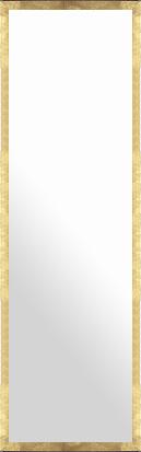 鏡 ミラー 壁掛け鏡 壁掛けミラー ウオールミラー:ラディアンス フラット ゴールド 334mmx1234mm(フレームミラー 壁掛け 壁付け 姿見 姿見鏡 壁 おしゃれ エレガント 化粧鏡 アンティーク 玄関 玄関鏡 洗面所 トイレ 寝室 額 フレーム 額縁 )