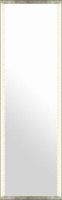 鏡 ミラー 壁掛け鏡 壁掛けミラー ウオールミラー:ラディアンス フラット シルバー 334mmx1234mm(フレームミラー 壁掛け 壁付け 姿見 姿見鏡 壁 おしゃれ エレガント 化粧鏡 アンティーク 玄関 玄関鏡 洗面所 トイレ 寝室 額 フレーム 額縁 )