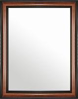 鏡 ミラー 壁掛け鏡 ウォールミラー:スパニッシュナチュラル 8022 ブラウン 464mmx564mm