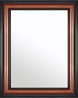 鏡 ミラー 壁掛け鏡 ウォールミラー:スパニッシュナチュラル 8021 ブラウン 488mmx588mm