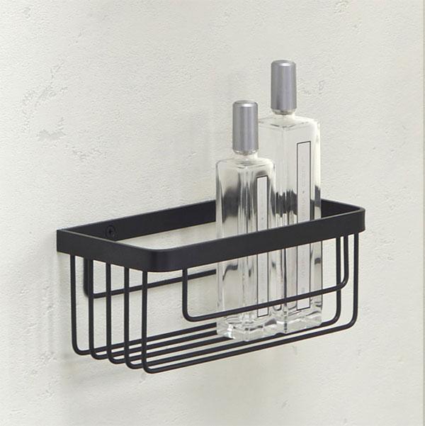 浴室でも使えるシェルフ メタルシェルフ シェルフ 洗面 洗面所 浴室 バスルーム バス ラック 棚板 壁掛け 棚 収納 壁面収納 デザイン サニタリー・シェルフ トイレ・洗面の棚 化粧棚:HR-Rr910c2-MMB
