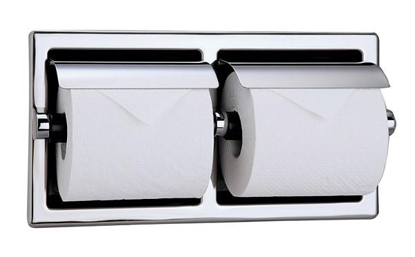 ペーパーホルダー ステンレス トイレ トイレットペーパーホルダー トイレペーパーホルダー ペーパーホルダーカバー ロールペーパーホルダー(ヨコ 2連 半埋込型):HR-Rr198c6-S-ki