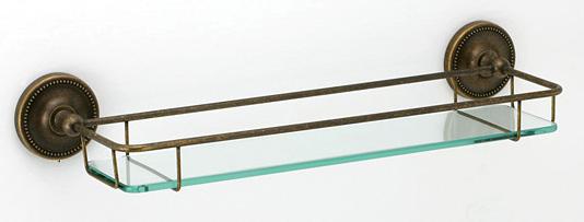 ガラスシェルフ シェルフ 棚 洗面の棚 サニタリーシェルフ 洗面 洗面所 ラック 棚板 壁掛け 収納 壁面 デザイン トイレ 洗面の棚 化粧棚 サニタリーシェルフ:古色調仕上げ g-6g4076k8