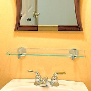 ガラスシェルフ シェルフ 棚 洗面の棚 サニタリーシェルフ 洗面 洗面所 ラック 棚板 壁掛け 収納 壁面 デザイン トイレ 洗面の棚 化粧棚 サニタリーシェルフ:g-6g4063k0