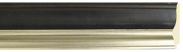 モールディング 木材 額縁 アンティーク フレーム サイズ インテリア額 インテリアモールディング インテリア 額 インテリア フレーム:mC-1003BS黒/銀