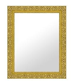 ゴールド 金 金箔 仕立ての 鏡 ミラー 壁掛け鏡 壁掛けミラー ウオールミラー:26-6542-407mmx509mm(フレームミラー 壁掛け 壁付け 姿見 姿見鏡 壁 おしゃれ エレガント 化粧鏡 アンティーク 玄関 玄関鏡 洗面所 トイレ 寝室 )