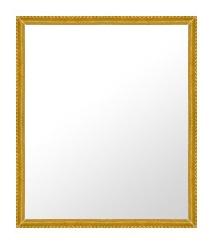 ゴールド 金 金箔 仕立ての 鏡 ミラー 壁掛け鏡 壁掛けミラー ウオールミラー:B-20047-w435mmx536mm(フレームミラー 壁掛け 壁付け 姿見 姿見鏡 壁 おしゃれ エレガント 化粧鏡 アンティーク 玄関 玄関鏡 洗面所 トイレ 寝室 )
