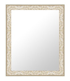 シルバー 銀 銀箔 仕立ての 鏡 ミラー 壁掛け鏡 壁掛けミラー ウオールミラー:18-6566-377mmx479mm(フレームミラー 壁掛け 壁付け 姿見 姿見鏡 壁 おしゃれ エレガント 化粧鏡 アンティーク 玄関 玄関鏡 洗面所 トイレ 寝室 )