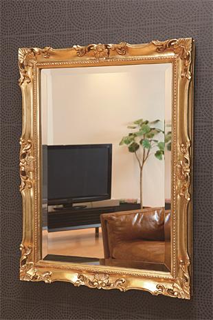 ゴールド 金 金箔 仕立ての 鏡 ミラー 壁掛け鏡 壁掛けミラー ウオールミラー:MaB-2r65C-AC(フレームミラー 壁掛け 壁付け 姿見 姿見鏡 壁 おしゃれ エレガント 化粧鏡 アンティーク 玄関 玄関鏡 洗面所 トイレ 寝室 )