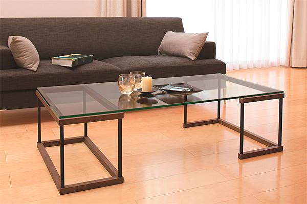 ローテーブル、ロー テーブル、テーブル ロー、リビングテーブル、ガラステーブル、ガラス テーブル、テーブル ガラス:LOTWaT-1r7