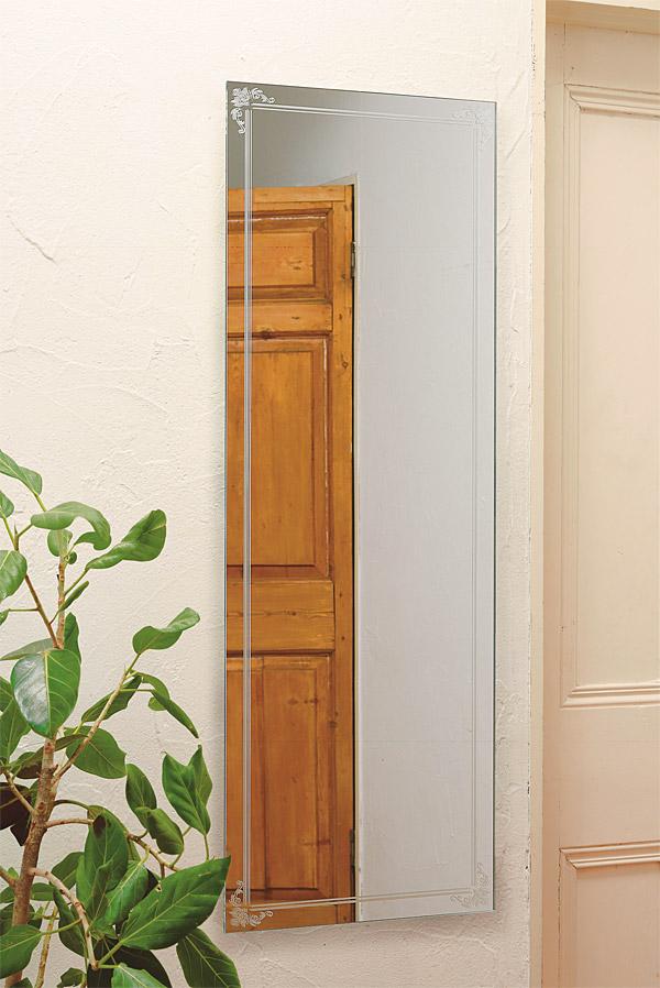 壁掛け 姿見 姿見鏡 全身 全身鏡:AaD-1r90(鏡 ミラー 壁掛けミラー 壁掛け鏡 ウォールミラー フレームレスミラー 壁付け 壁 おしゃれ エレガント 化粧鏡 玄関 玄関鏡 寝室 ノーフレーム)