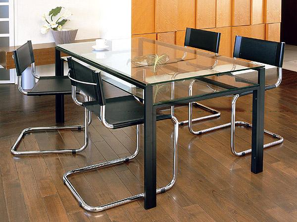 ハイテーブル、ハイ テーブル、リビングテーブル、ガラステーブル、ガラス テーブル、テーブル ガラス(黒・黒色・ブラック):HITAR-DaT-4r(天板、棚板:透明ガラス)
