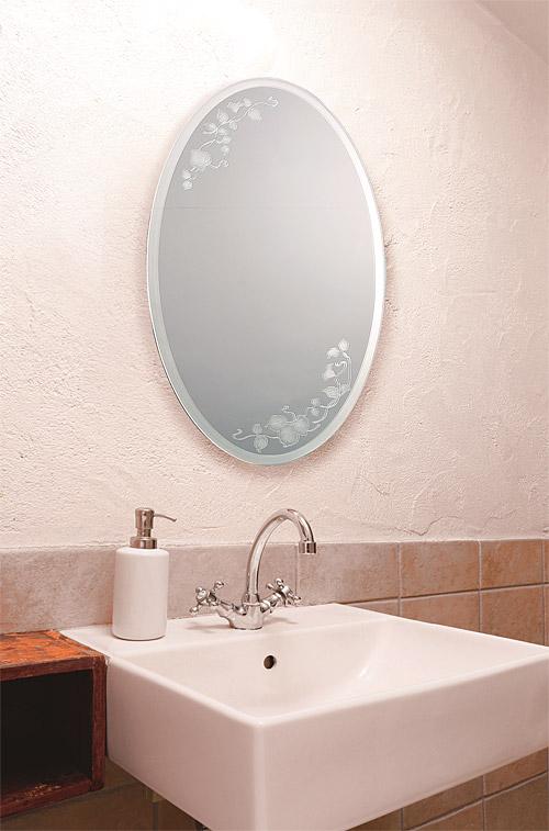 ガラスアート の 鏡 ミラー 壁掛け鏡 壁掛けミラー ウオールミラー:AaD-1r88(フレームレスミラー 壁掛け 壁付け 姿見 姿見鏡 壁 おしゃれ エレガント 化粧鏡 玄関 玄関鏡 洗面所 トイレ 寝室 ノンフレーム ノーフレーム)
