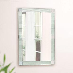 ガラスアート の 鏡 ミラー 壁掛け鏡 壁掛けミラー ウオールミラー:AaD-40r1(フレームレスミラー 壁掛け 壁付け 姿見 姿見鏡 壁 おしゃれ エレガント 化粧鏡 玄関 玄関鏡 洗面所 トイレ 寝室 ノンフレーム ノーフレーム)