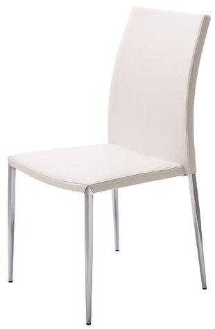 ガラステーブル、ガラス テーブル用の椅子、イス(白・白色・ホワイト):ISAR-JaC-2r01
