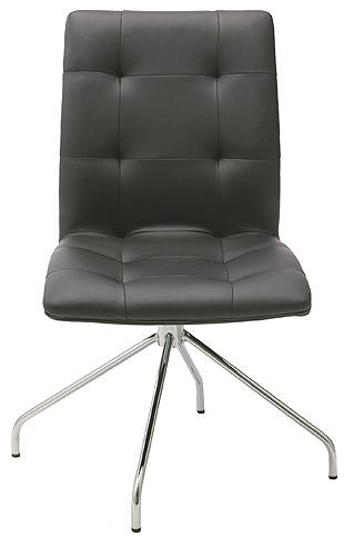 いす イス 椅子 チェア 合皮 合成皮革 クッション スチール製 スチール 脚 おしゃれ デザイン ダイニング オフィス キッチン(ブラック):JaC-4r03