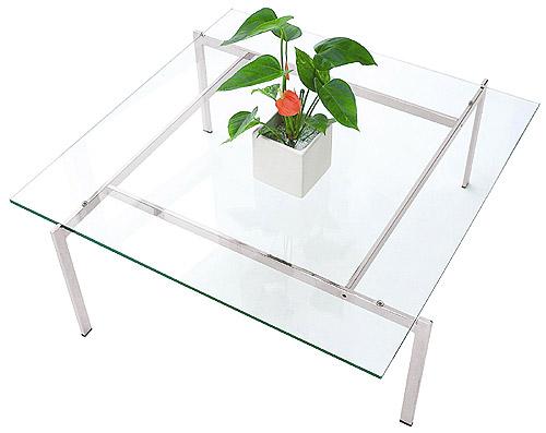 ローテーブル、ロー テーブル、テーブル ロー、リビングテーブル、ガラステーブル、ガラス テーブル、テーブル ガラス(銀・銀色・シルバー):LOTAR-EaC-1r12