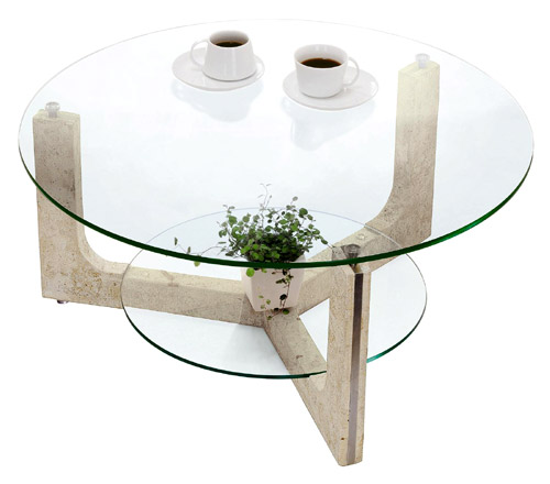 ローテーブル、ロー テーブル、テーブル ロー、リビングテーブル、ガラステーブル、ガラス テーブル、テーブル ガラス(丸・円・ラウンド):LOTAR-MaS-1r