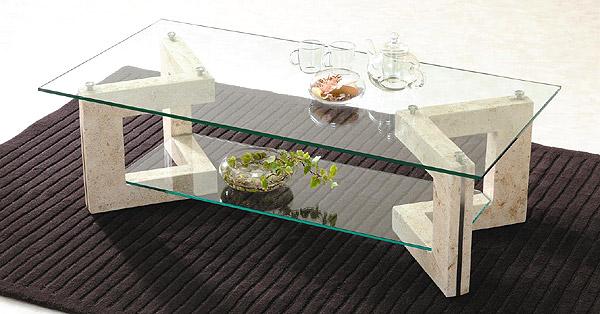 センターテーブル ガラステーブル リビングテーブル コーヒーテーブル リゾートテーブル ガラス 硝子 ガラス天板 天板ガラス ガラストップ おしゃれ:AR-MaS-2r