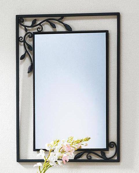 ロートアイアン アイアン 鉄 スチール の 鏡 ミラー 壁掛け鏡 壁掛けミラー ウオールミラー:AR-NaA-1r97(フレームミラー 壁掛け 壁付け 姿見 姿見鏡 壁 おしゃれ エレガント 化粧鏡 アンティーク 玄関 玄関鏡 洗面所 トイレ 寝室 )