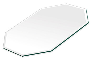ミラー トレイ ミラー トレー 鏡 トレイ 鏡 トレー:クリアミラー(通常の鏡)・トレイ・長八角形(130x180mm)(鏡トレイ 鏡トレー ミラートレイ ミラートレー ベーストレイ ディスプレイ トレー トレイ)