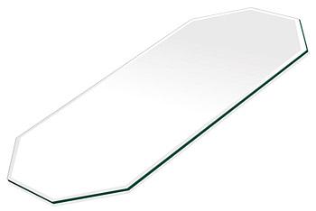 ミラー トレイ ミラー トレー 鏡 トレイ 鏡 トレー:クリアミラー(通常の鏡) トレイ 長八角形(140x300mm)(鏡トレイ 鏡トレー ミラートレイ ミラートレー ベーストレイ ディスプレイ トレー トレイ)