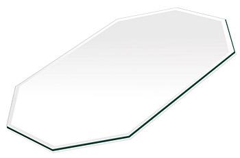 ミラー トレイ ミラー トレー 鏡 トレイ 鏡 トレー:クリアミラー(通常の鏡)・トレイ・長八角形(200x300mm)(鏡トレイ 鏡トレー ミラートレイ ミラートレー ベーストレイ ディスプレイ トレー トレイ)