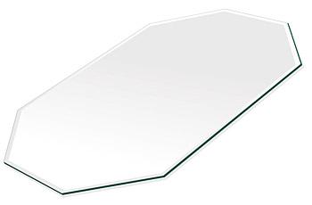 ミラー トレイ ミラー トレー 鏡 トレイ 鏡 トレー:クリアミラー(通常の鏡)・トレイ・長八角形(233x350mm)(鏡トレイ 鏡トレー ミラートレイ ミラートレー ベーストレイ ディスプレイ トレー トレイ)